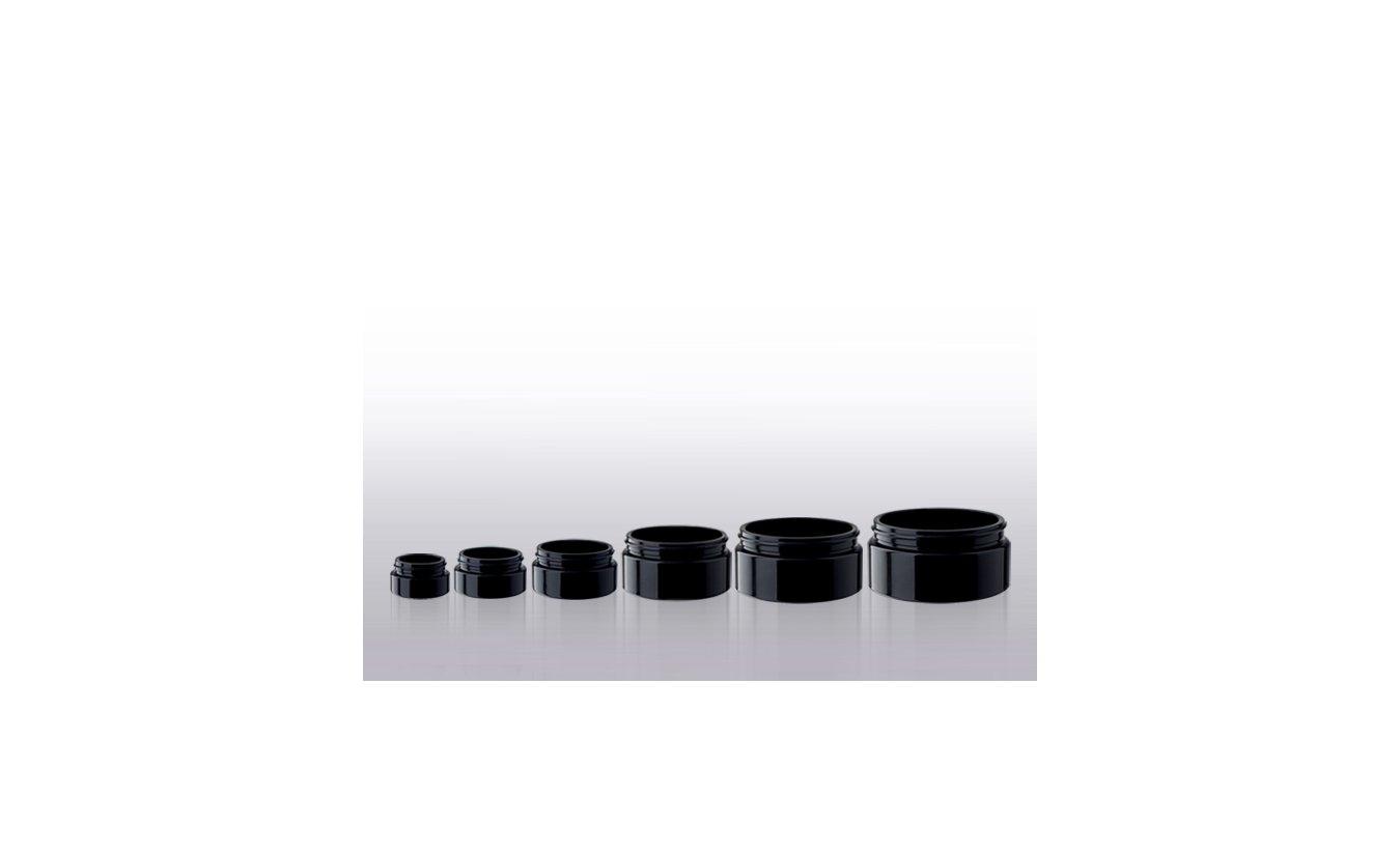 Miron Cosmetic jars, wide