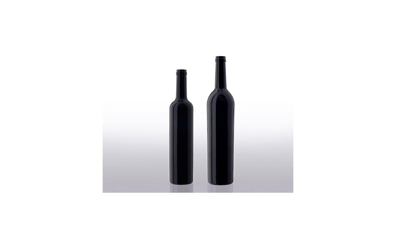 Miron violet glass wine bottles.