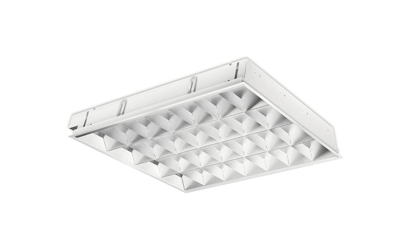 Mountainlight Inlegarmatuur 4x 18 Watt, Matt aluminum grille