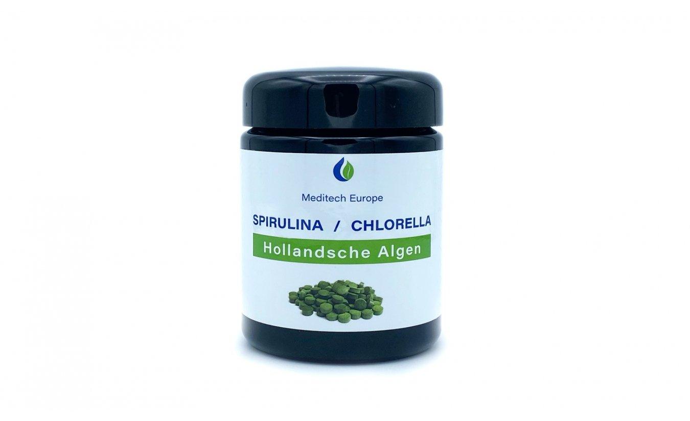 Spirulina Chlorella algen tabletten