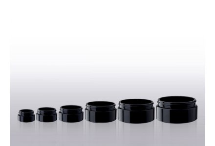 Miron Cosmetic jars, wide