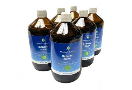 Colloïdaal zilver 10ppm, 6 liter (5 + 1 gratis)