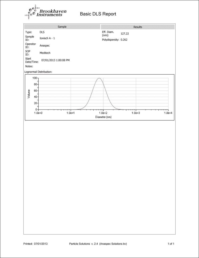 Laboratoriumanalyse Colloïdaal Zilver 10ppm | Deeltjes grootte