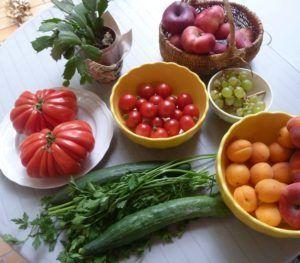 Groentes op tafel